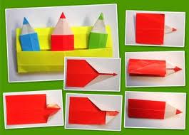 cara membuat origami kincir angin pensil origami warna warni