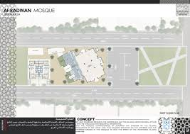 floor plan of a mosque arena architecture utilities buildings al radwan mosque