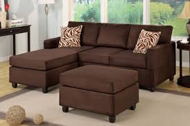 Small Brown Sectional Sofa Fabric Sectionals F 7661