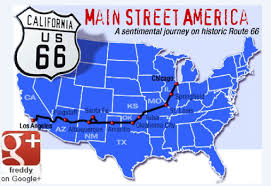 Route 66 Map by U S A Route 66