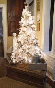 never had a white christmas tree but this is making me think about