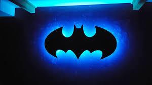 light music playing batman symbol