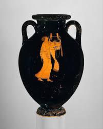 Greek Black Figure Vase Painting Attributed To The Berlin Painter Terracotta Amphora Jar