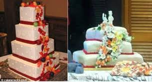 wedding cake fails wedding cake fails brides photos of horrible cake designs