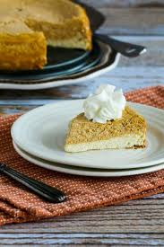 low sugar or sugar free layered pumpkin cheesecake kalyn s kitchen