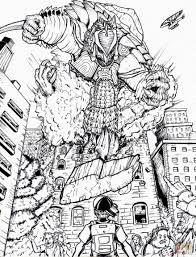 zilla vs zetton coloring page free printable coloring pages