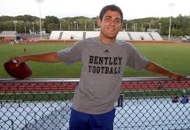bentley college football bentley quarterback wraps up record breaking chapter to football