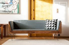 canapé en bois banquette en bois mabillon un canapé 3 places compact et pib