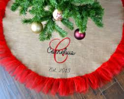 contemporary design personalized tree skirt skirts etsy