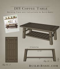coffee table building plans build a diy coffee table build basic