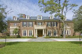 new colonial mansion constructed in piney point village homes of
