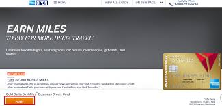 American Express Business Card Application Apply For American Express Gold Delta Sky Miles Business Credit