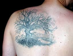 s shoulder black tree tattoomagz