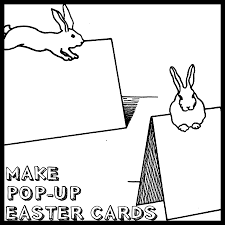 how to make pop up easter bunny rabbit cards crafts idea and
