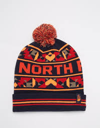 the north face black friday the north face ski tuke bobble beanie hat in blue for men lyst