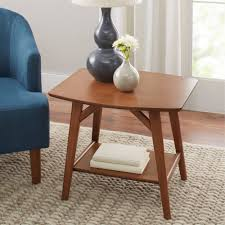 Walmart End Tables And Coffee Tables Better Homes And Gardens Reed Mid Century Modern Side Table Pecan