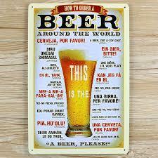 aliexpress com buy beer around the world ua 0080 metal painting