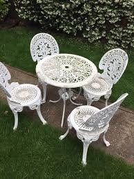 Cast Aluminium Garden Table And Chairs Cast Aluminium Garden Table Chairs And In Fulham London Gumtree