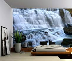 peel and stick vinyl wallpaper mountain cliff waterfall large wall mural self adhesive vinyl