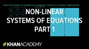 non linear systems of equations 1 algebra ii khan academy you
