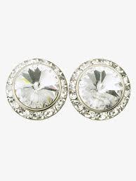 pierced earrings 15mm pierced earrings with swarovski crystals accessories