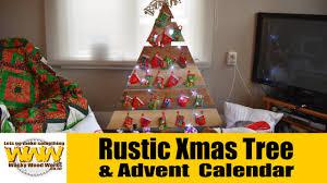 make a rustic tree advent calendar wacky wood works