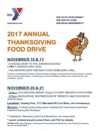 armed services ymca 2017 thanksgiving food drive legacy