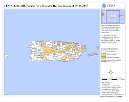Map Of Puerto Rico Puerto Rico Hurricane Irma Dr 4336 Fema Gov