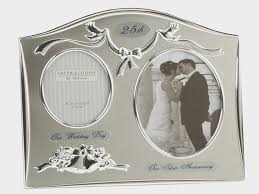 25 year anniversary gift ideas silver 25th anniversary personalized plate on wood base 25 year