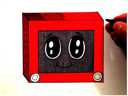 how to draw a cute etch a sketch youtube