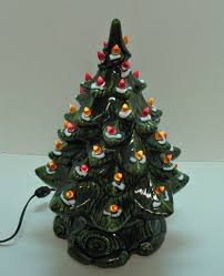 green ceramic christmas tree with lights christmas gift ideas