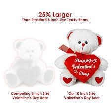 valentines day bears valentines day teddy big 10 inch size stuffed animal