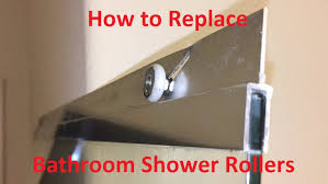 Glass Shower Door Roller Replacement by Tutorial How To Replace Bathroom Shower Rollers Youtube