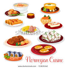 cuisine stock cuisine national dishes salmon potato เวกเตอร สต อก