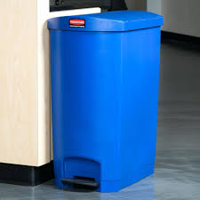 small wastebasket in black small trash can with swing top lid