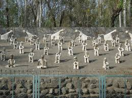 statues made of waste picture of the rock garden of chandigarh