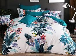 Cotton Bedding Sets Designer 60s Brocade Painting Flowers Birds Pastoral Style 4