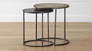 crate and barrel accent tables knurl nesting accent tables set of two reviews crate and barrel