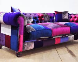 Chesterfield Sofa Patchwork Etsy Your Place To Buy And Sell All Things Handmade