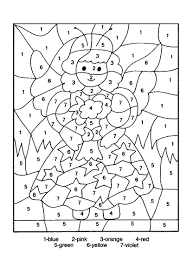 free printable christmas color by number coloring pages numbers