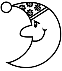 holiday coloring pages moon and stars coloring pages printable