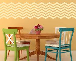 6 chevron stripes wall pattern decal