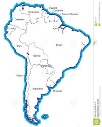 South America Map Countries by South American Map With Country Names Royalty Free Stock Photo