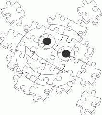 puzzle piece coloring page coloring home