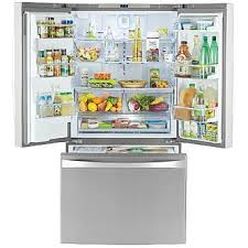 Counter Depth Stainless Steel Refrigerator French Door - kenmore elite 74043 23 7 cu ft french door bottom freezer