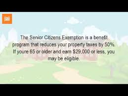 what is senior exemption youtube