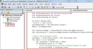 business card exle how to quickly export the business cards of outlook contacts into