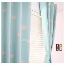 rideaux chambres enfants doux de couleur bleu ciel patterns chambre de bébé enfants rideaux d