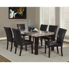 dining room dark grey wooden dining table with granite counter