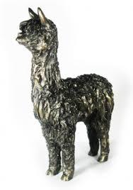 alpaca bronze figurine